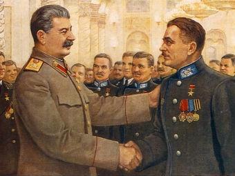 """Фрагмент открытки """"Работать так, чтобы товарищ Сталин спасибо сказал!"""" с сайта sovunion.info"""