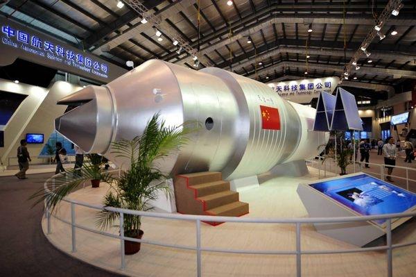 «Тяньгун-1» на выставочном стенде (здесь и ниже фото China-defense-mashup.com).