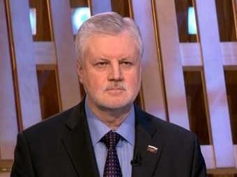 Сергей Миронов во время теледебатов. Кадр Первого канала