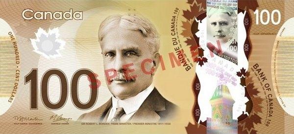 Канадцы заплатят по счетам пластиком. (Изображение Bank of Canada.)