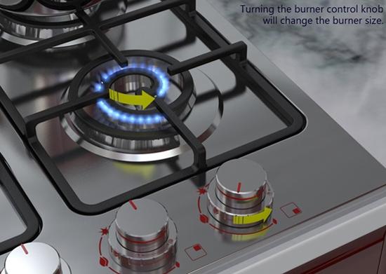Плита с масштабируемой газовой конфоркой