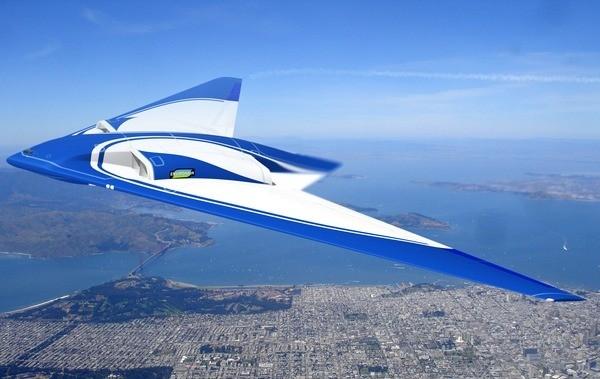 Авиалайнер будущего в представлении художников «Нортроп Грумман» (здесь и ниже иллюстрации Northrop Grumman).