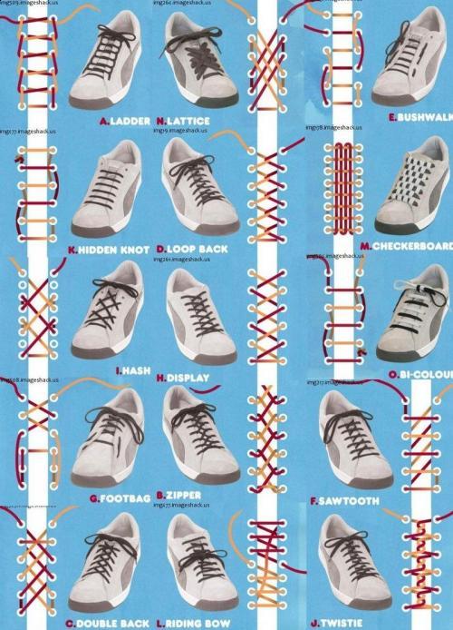 завязывания шнурков,